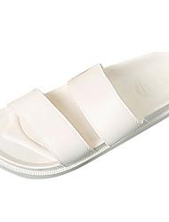 Men's Slippers & Flip-Flops Comfort Summer PU Outdoor White Flat