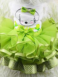 abordables -Chien Robe Vêtements pour Chien Décontracté / Quotidien Fruit Jaune Rouge Vert Costume Pour les animaux domestiques