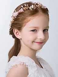 Girl's Headband Bead Crystal Bow Decoration Flower Girl's Hair Accessory