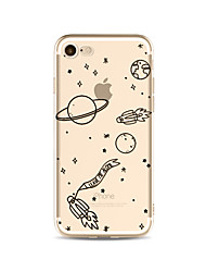 Etui til iphone 7 plus 7 cover gennemsigtigt mønster bagside cover himmel blød tpu til apple iphone 6s plus 6 plus 6s 6 se 5s 5c 5 4s 4