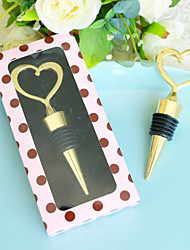 cheap -DIY Wedding Favor Heart of Gold Bottle Stopper Wedding Favors