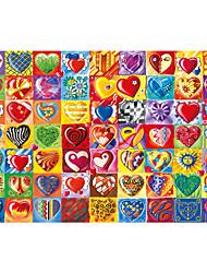"""Недорогие -Пазлы Игрушки 1 ¼ """"Сердца Корабль Мультяшная тематика Дерево Универсальные Куски"""