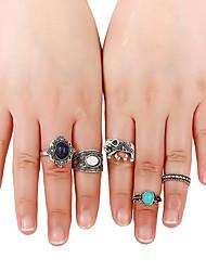 Жен. Классические кольца Кольцо манжета кольцо Хип-хоп Multi-Wear способы Euramerican Африка Мода ПанкМеталлический сплав Резина Металл