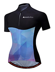 cheap -Miloto Cycling Jersey Women's Short Sleeves Bike Jersey Top Bike Wear Reflective Strip Fast Dry Stretchy Cycling