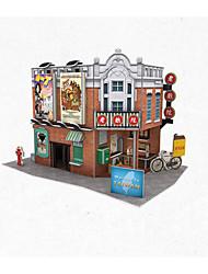 economico -Puzzle 3D Puzzle Kit per costruzioni Edificio famoso Casa Architettura 3D Carta 6 anni e sopra 3-6 anni