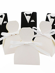 cheap -Others Card Paper Favor Holder with Ribbons Gift Boxes - 50