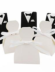 abordables -Otros papeles de tarjeta de papel titular con cintas cajas de regalo-50 favores de la boda