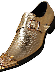 abordables -Unisexe Chaussures Formal Cuir Nappa Automne / Hiver Oxfords Or / Argent / Soirée & Evénement