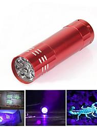 Lampes Torches LED Lampes de poche Lumière Noir LED 300 Lumens 1 Mode LED Batteries non incluses Résistant aux impacts Surface