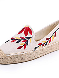 cheap -Women's Loafers & Slip-Ons Espadrilles Light Soles Spring Summer Cotton Linen Casual Party & Evening Office & Career Applique Creepers