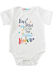 Une-Pièce bébé Imprimé Coton Eté Manches Courtes