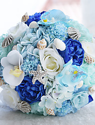 Blue Ocean Seabeach Theme Wedding Bride Hand Holding Bouquet Wedding Decoration