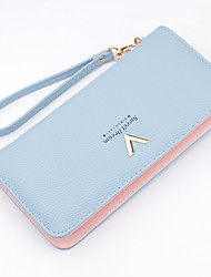 cheap -Women Bags PU Money Clip for Shopping Daily Casual All Seasons Black Gray Sky Blue Pink