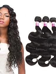 Ciocche a onde capelli veri Peruviano Ondulato naturale 1 anno 3 pezzi tesse capelli