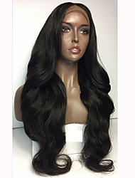 cheap -Human Hair Lace Front Wig Natural Wave 130% Density 100% Hand Tied African American Wig Natural Hairline Short Medium Long Women's Human