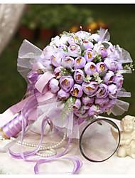 cheap -YuXiYing Hemispherical Small Tea Bract Wedding Bride Bouquet 8 Colors