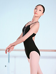 Ballet Leotards Women's Training Spandex 1 Piece Sleeveless High Leotard