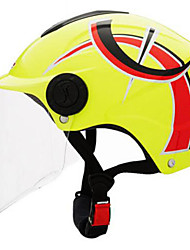 cheap -LS2  Of108  Motorcycle Helmet Summer Helmet Four And A Half Years Sunscreen Helmets With Silver Plated Lenses Yellow Sprint By Yellow Under The Single