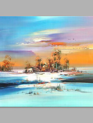 cheap -Oil Painting Hand Painted - Landscape Artistic Canvas