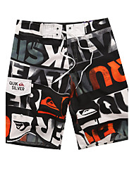 cheap -Men's Quick-Drying Breathable Bottoms Print Beach/Swim Shorts Polyester Summer Orange/Blue/Green