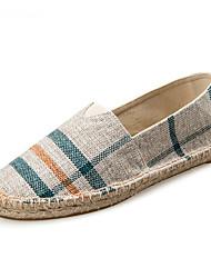 abordables -Unisexe Chaussures Coton / Toile Eté / Automne Semelles Légères / Espadrilles / Moccasin Mocassins et Chaussons+D6148 Talon Plat Bout rond
