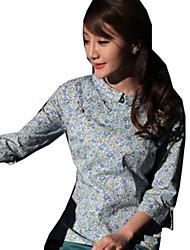 Blouse/Shirt Classic/Traditional Lolita Lolita Cosplay Lolita Dress Coffee Green Red Blue Print Short Sleeve Lolita Blouse ForCotton