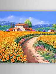 Hand-Painted  Impression Colorful Country Scenes  Oil Painting With Stretcher For Home Decoration Ready to Hang