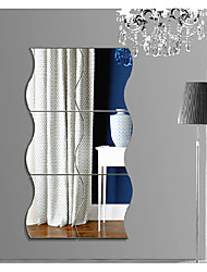 cheap -Shapes Abstract 3D Wall Stickers Plane Wall Stickers 3D Wall Stickers Mirror Wall Stickers Decorative Wall Stickers 3D,Acrylic Home
