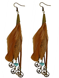 cheap -Drop Earrings Women's Euramerican Fashion Personalized Feather Bohemian Earrings  Party Daily Movie Jewelry
