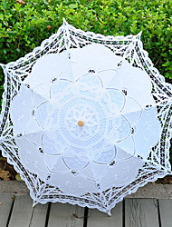 cheap -Vintage Handmade Middle Size Lace Umbrella Wedding Parasol Costume Accessory Bridal Photograph