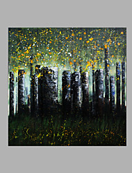 Hand-Painted Abstract Landscape Square,Other Abstract One Panel Canvas Print For Home Decoration