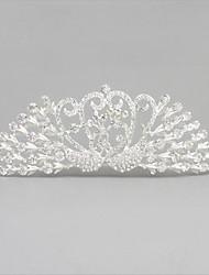 abordables -aleación de cristal tiaras peinetas para el cabello casco clásico estilo femenino