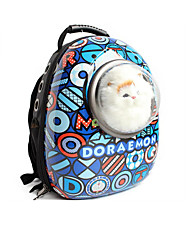 Gato Cachorro Tranportadoras e Malas Animais de Estimação Transportadores Portátil Respirável Desenho Animado Azul