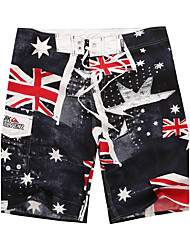 cheap -Men's Sporty Bottoms Print Board Shorts