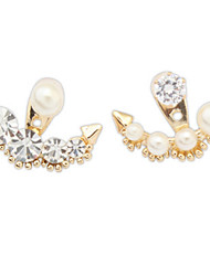 Stud Earrings Drop Earrings New Mismatching Asymmetry Earrings Alloy Fashion Pearl Rhinestone  For Women Party Gift Jewelry