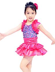 abordables -Tenues de Danse pour Enfants Robes et Jupes Enfant Spectacle Satin