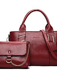 Donna Sacchetti PU (Poliuretano) sacchetto regola Set di borsa da 2 pezzi per Per tutte le stagioni Bianco Nero Rosso Grigio