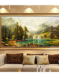 cheap -Framed Oil Painting Landscape Oil Painting Wall Art, Acrylic Material With Frame Home Decoration Frame Art Living Room Dining Room