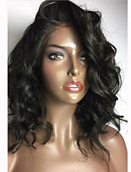 cheap -Human Hair Lace Front Wig Body Wave 150% Density 100% Hand Tied African American Wig Natural Hairline Short Medium Long Women's Human