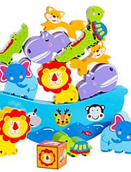 Недорогие -Конструкторы Игры с блоками Обучающая игрушка Игрушки Башня MOON Баланс Дерево Детские Куски