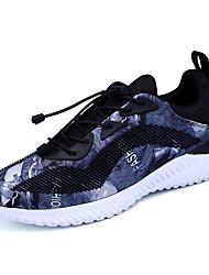 Недорогие -Муж. обувь Дышащая сетка Весна Осень Удобная обувь Кеды На эластичной ленте для Атлетический Повседневные на открытом воздухе Серый