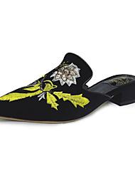 abordables -Femme Chaussures Polyuréthane Printemps Confort Sandales Talon Plat pour Décontracté Noir Bleu Noir/Vert Kaki