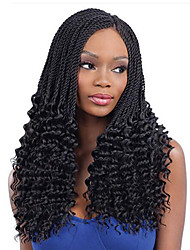cheap -1PC/Set Freetress Crochet Braid 34 strands/pack PRE-TWISTED FLASHY CURL Ombre Senegalese Twist Hair Synthetic Hair Extensions