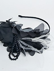 economico -copricapo in chiffon perla cappelli per uccelli copricapo stile elegante