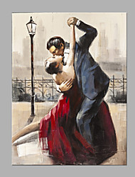 IARTS®  Oil Painting Lover Dancing Waltz in Paris Modern  Abstract Art Acrylic Canvas Wall Art For Home Decoration