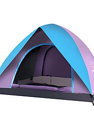 LINGNIU® 3-4 persone Tenda Igloo da spiaggia Doppio Tenda da campeggio Tenda ripiegabile Caldo Antivento Anti-pioggia Traspirante Crema
