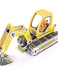 abordables -Puzzles 3D Puzzle Kit de Maquette Pelleteuse 3D A Faire Soi-Même Papier de haute qualité Classique Excavateur Enfant Fille Garçon Unisexe