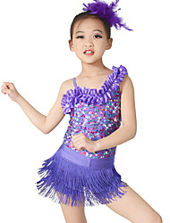 cheap -MiDee Jazz Dance Dancewear Adults' Children's Sequin Jazz Outfit Kids Dance Costumes
