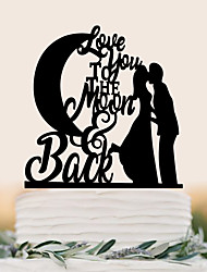 Cake Topper Wedding Birthday High Quality Plastic Wedding Birthday With PVC Bag