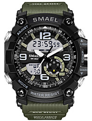 cheap -SMAEL Men's Sport Watch Fashion Watch Military Watch Japanese Digital 50 m Water Resistant / Water Proof Calendar / date / day Chronograph PU Silicone Band Analog-Digital Casual Black / Red / Orange